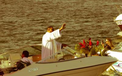 Confira as fotos da procissão náutica de Santo Antonio