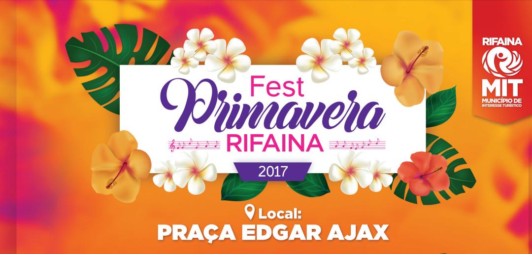 Festival da Primavera em Rifaina terá três dias de shows musicais
