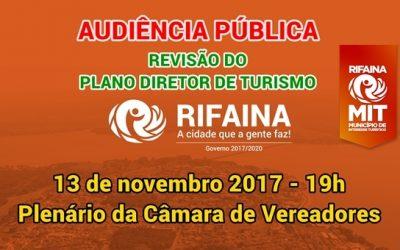 Audiência Pública para revisão do plano diretor de turismo em Rifaina